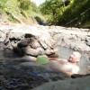 「鹿の湯(無料)」北海道然別キャンプ場【温泉キャンプ】然別キャンプ場の中にある混浴露天温泉