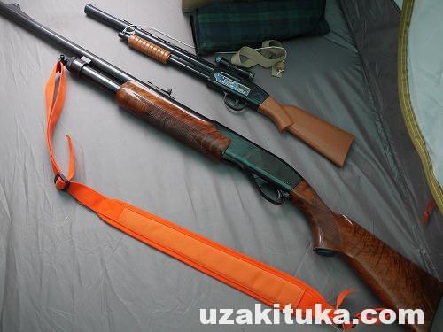【ツカ狩猟】狩猟用レミントンM870に負い紐(スリング)をつけました【7700円】