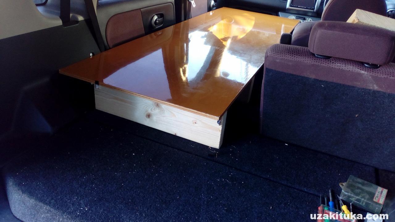 【DIY】車中泊用のベッドを作ります