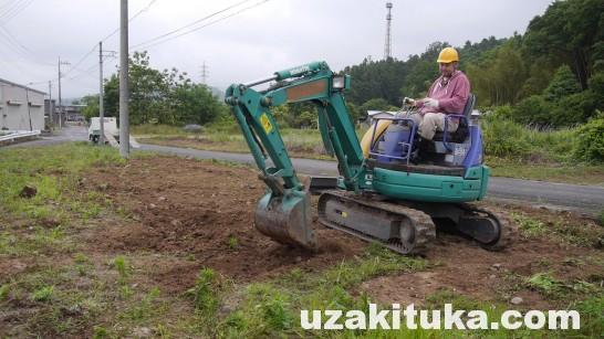 【DIY】ユンボで土地をたいらに整地する