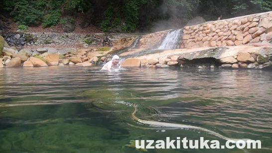 「尻焼温泉(無料)」群馬県【野湯】川が熱い!尻が焼ける?大自然の混浴露天温泉