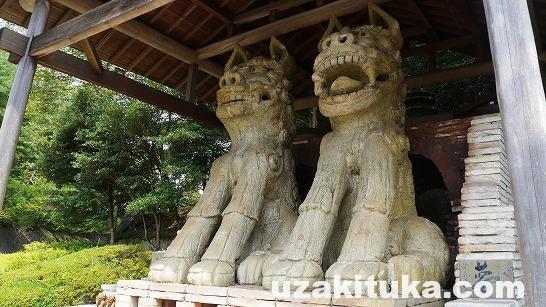 「岐阜の美濃焼は世界一」岐阜県:巨大美濃焼こま犬と巨大美濃焼茶壷