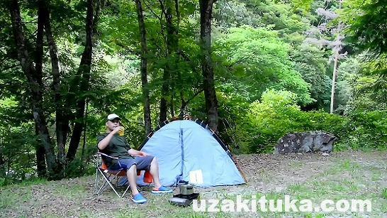 「二軒屋キャンプ場(無料)」長野県【キャンプ】秘境!山奥のさらに奥!川が綺麗な万古渓谷