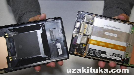 ネクサス7LTE(2013)の液晶タッチパネル交換のしかた