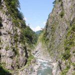 「清津峡(600円)」新潟県【日本三大渓谷】なだらかなトンネルで車イスやベビーカーでも渓谷が楽しめる