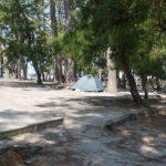 「園家山キャンプ場(無料)」富山県【キャンプ】美味しい湧き水出っ放し!松の木陰でゆったりできる